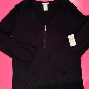 New Michael Kors black coverup tunic, M